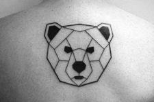 Minimalistic geometric tattoo on the back