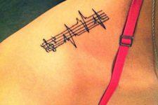 Music heartbeat tattoo idea