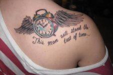 Original tattoo on the shoulder