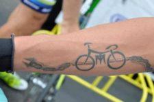 Simple tattoo on the arm