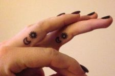 Small tattoos on the finger