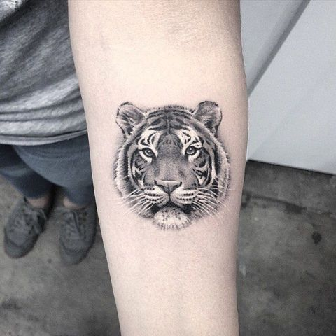 20 excellent tiger tattoo ideas for men styleoholic for Tiger tattoo face