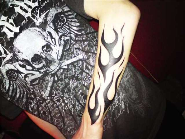 Tribal tattoo on the arm