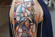 Unique half-sleeve tattoo