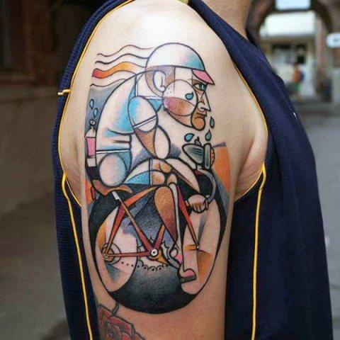 Unique half sleeve tattoo