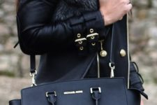 03 a black bag with a long strap can be worn on the shoulder too