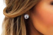 03 large rhinestone stud earrings will fit many occasions, even weddings