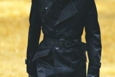 04 a black trench coat is classics for any man, it's timeless and chic