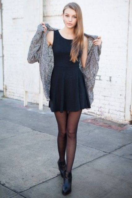 How To Style A Little Black Dress For Fall 15 Ideas Styleoholic
