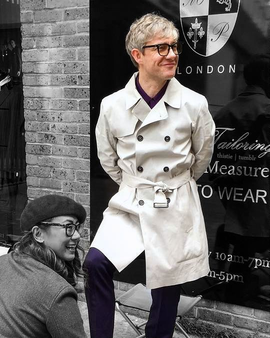 a gorgeous white trench is a timeless solution for any man