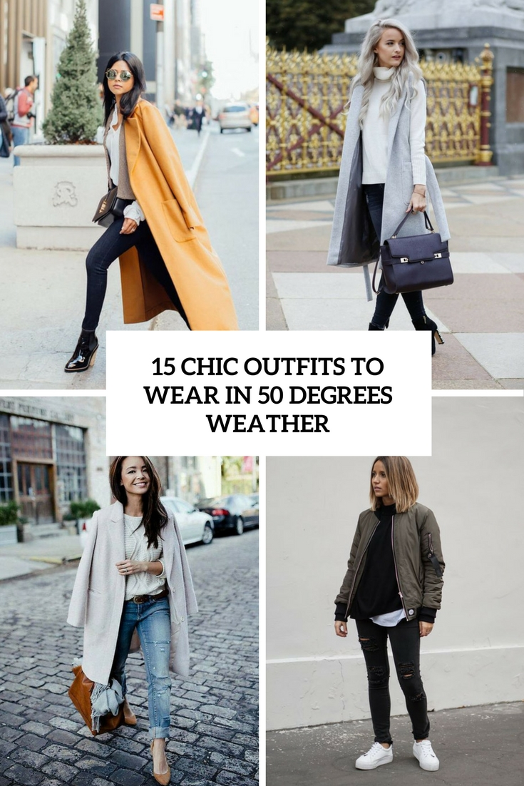 15 Chic Ways To Tie A Scarf: 15 Chic Outfits To Wear In 50 Degrees Weather