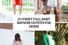 15 comfy fall baby shower outfits for moms cover