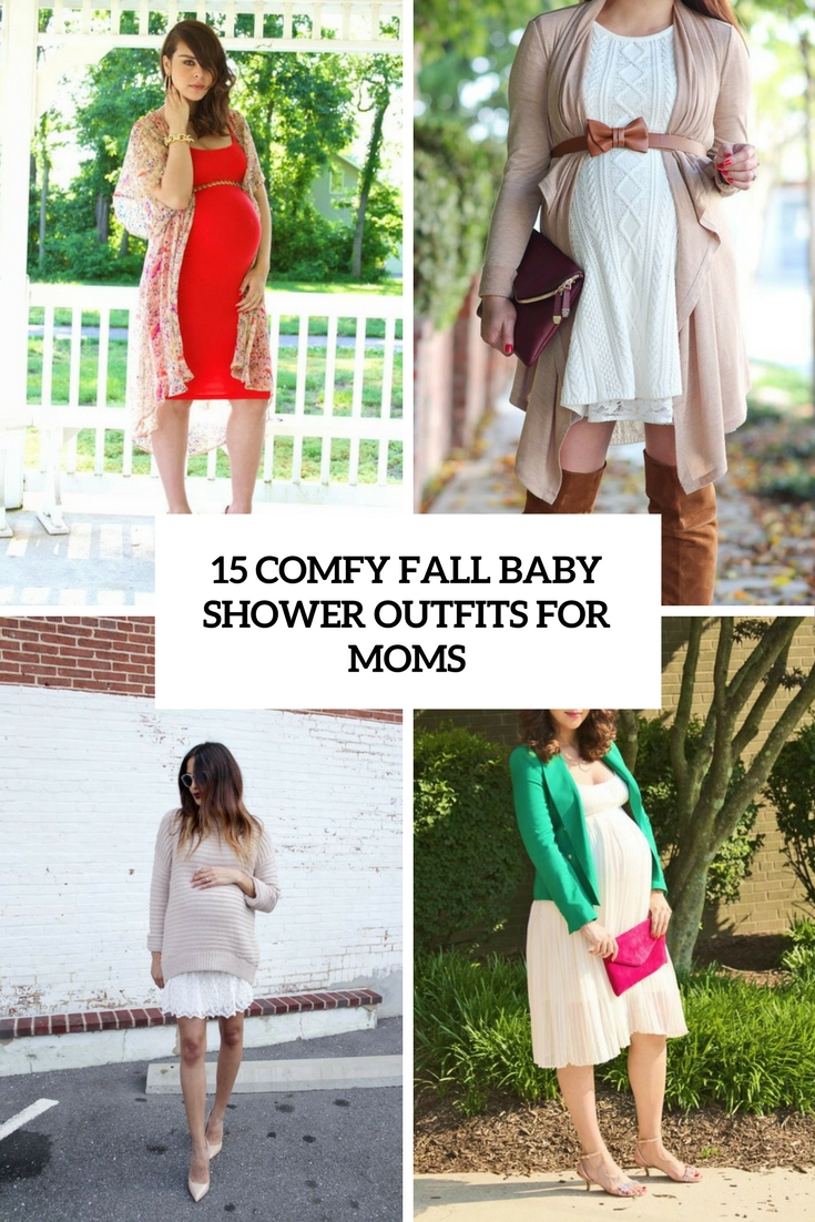 15 Comfy Fall Baby Shower Outfits For Moms Styleoholic