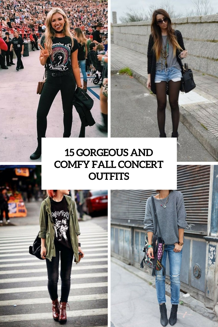 15 Gorgeous And Comfy Fall Concert Outfits