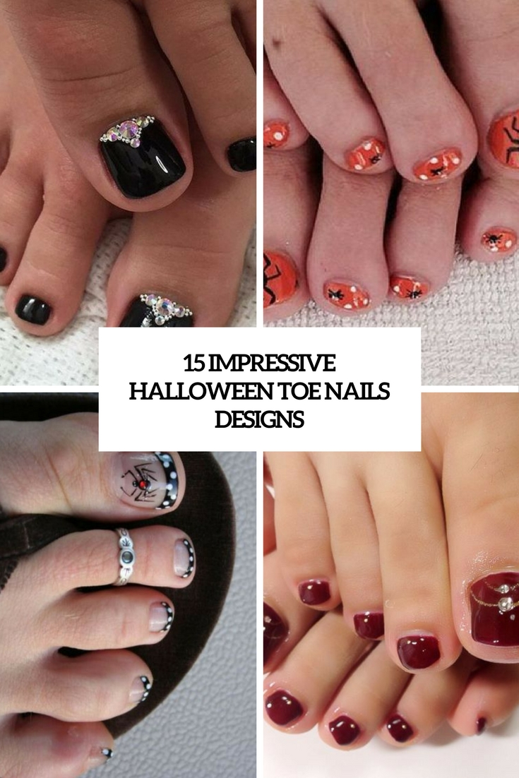 15 Impressive Halloween Toe Nails Designs - 15 Impressive Halloween Toe Nails Designs - Styleoholic