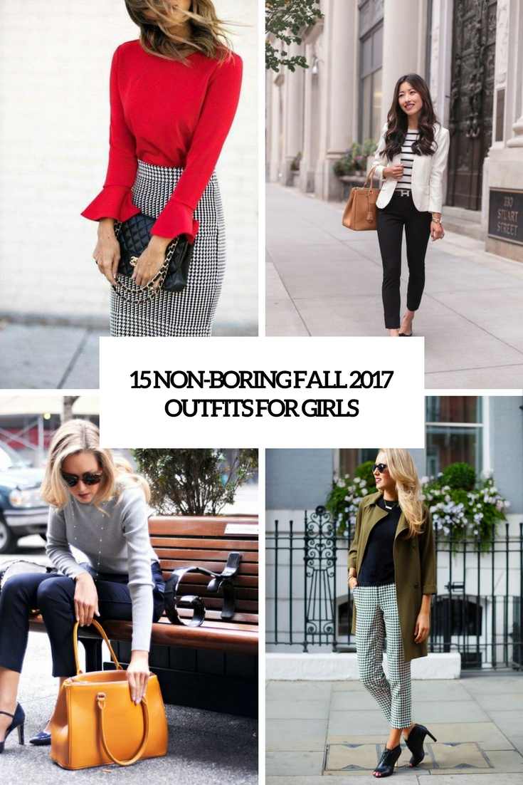 non boring fall 2017 work outfits for girls cover