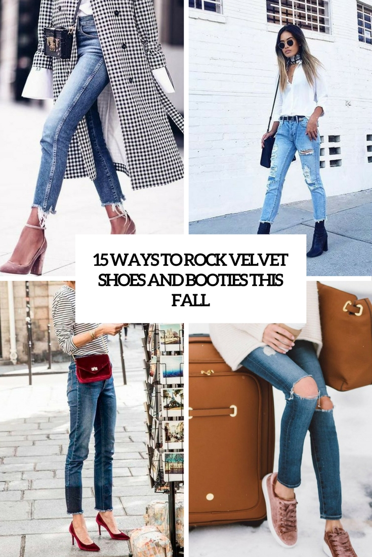 15 Ways To Rock Velvet Shoes And Boots This Fall