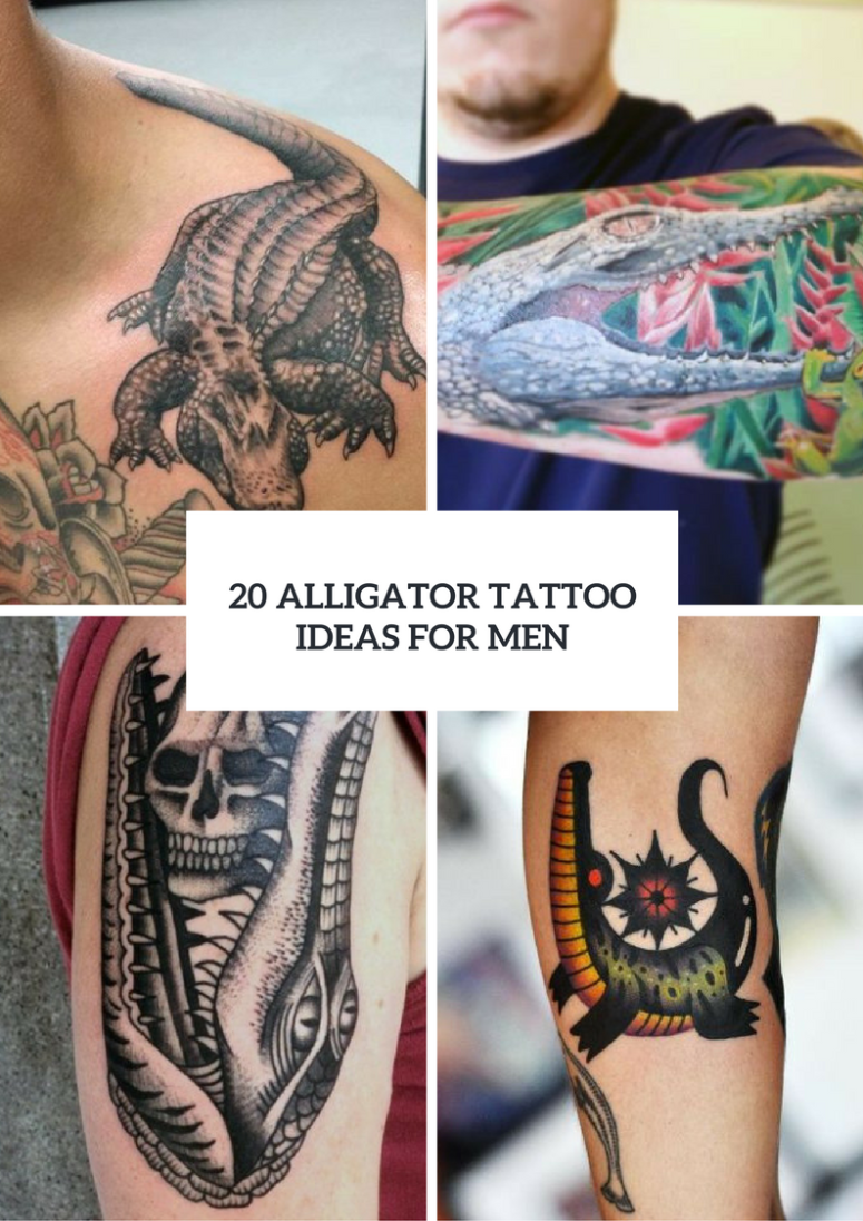 20 Alligator Tattoo Ideas For Men To Try