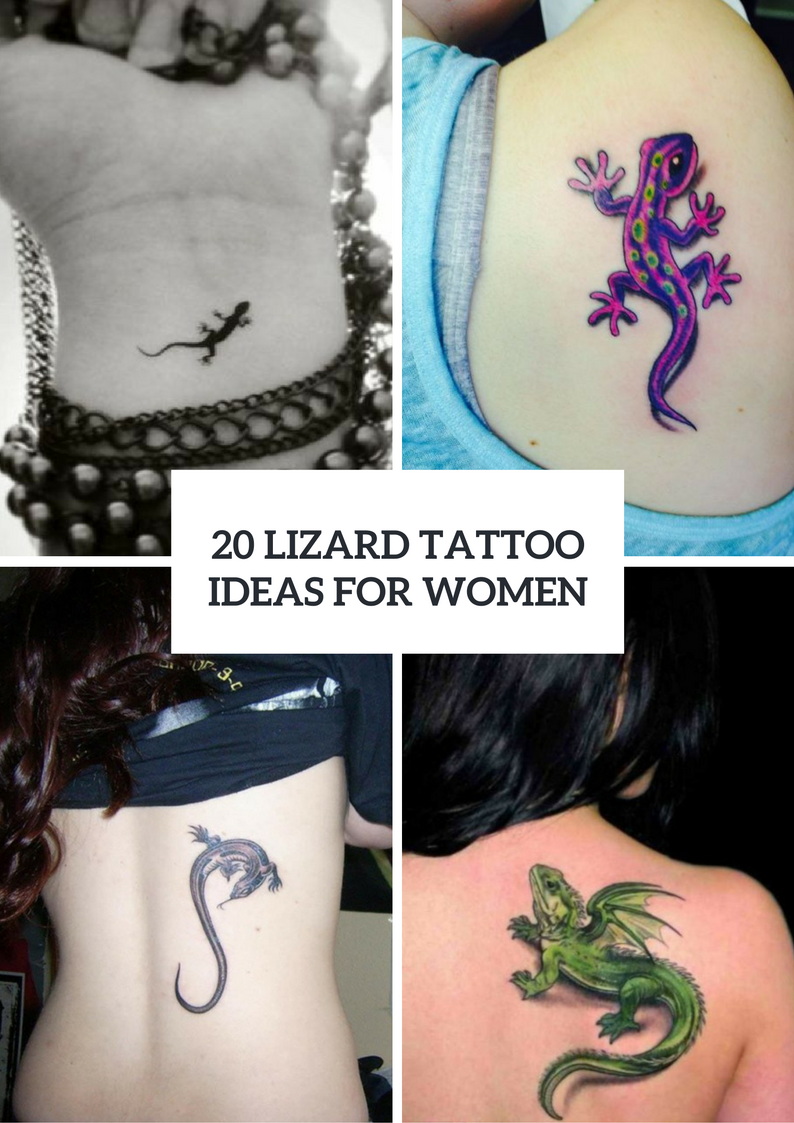 Awesome Lizard Tattoo Ideas For Girls