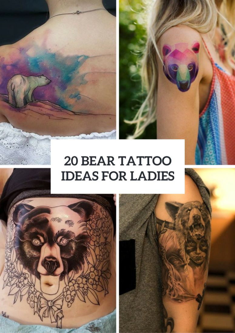 Bear Tattoo Ideas For Girls To Repeat