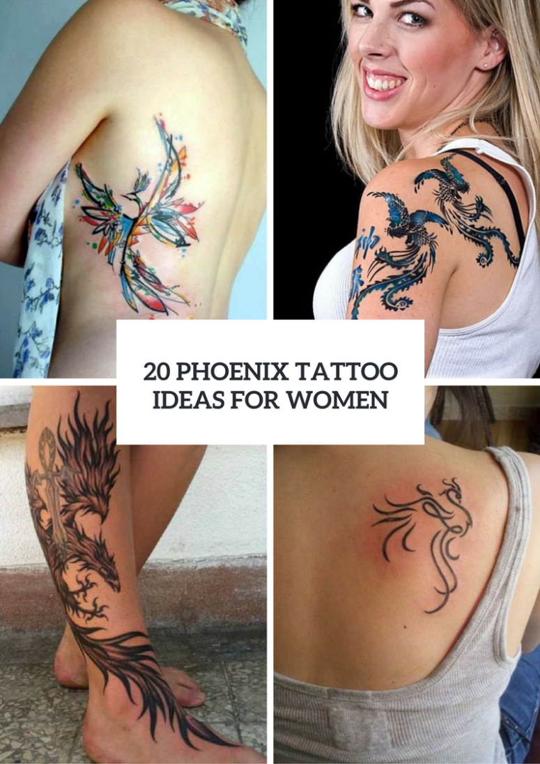 20 Beautiful Phoenix Tattoo Ideas For Ladies