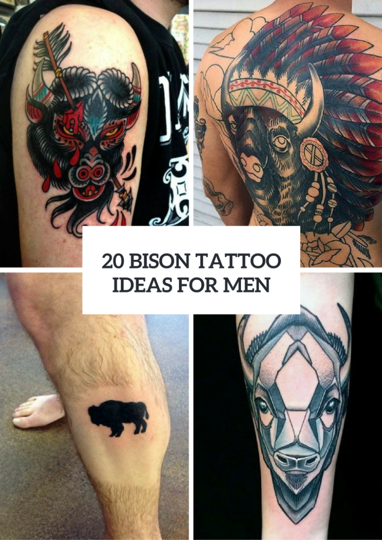 20 Bison Tattoo Ideas For Men