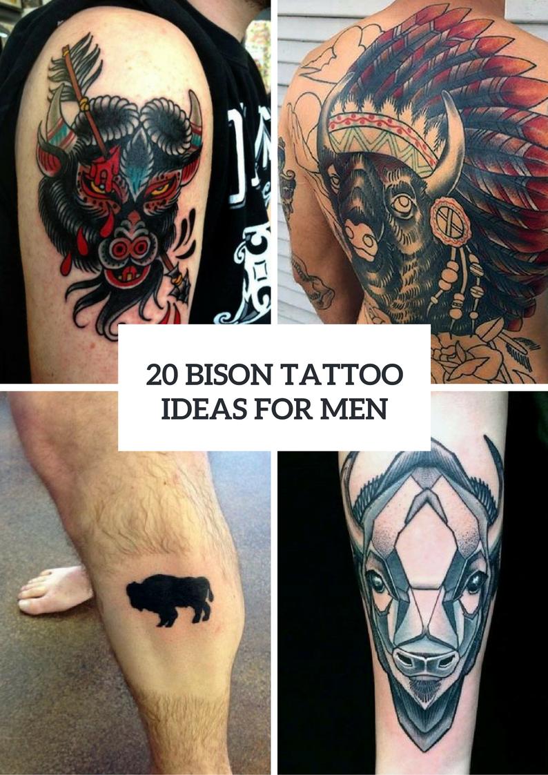 Bison Tattoo Ideas For Men