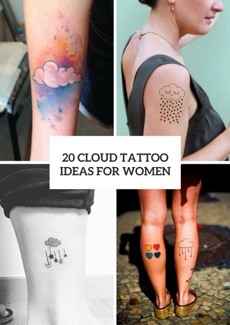 Cute Cloud Tattoo Ideas For Women