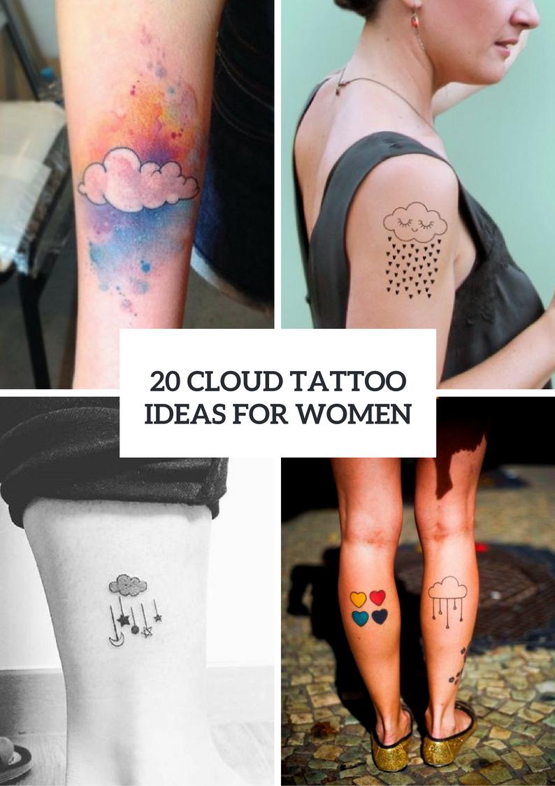 Cute Cloud Tattoo Ideas For Women