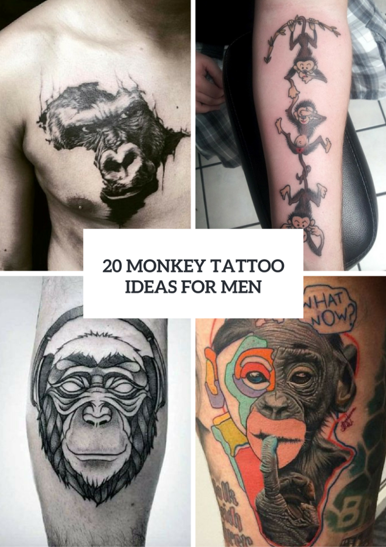 20 Monkey Tattoo Design Ideas For Men