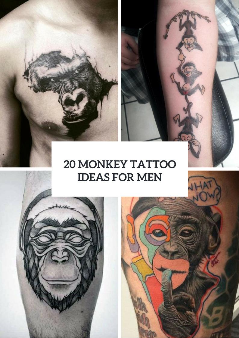 Monkey Tattoo Design Ideas For Men