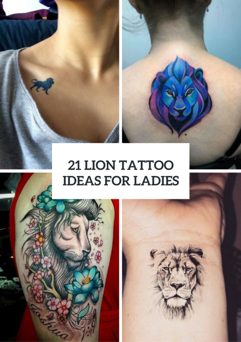 Awesome Lion Tattoo Ideas For Women