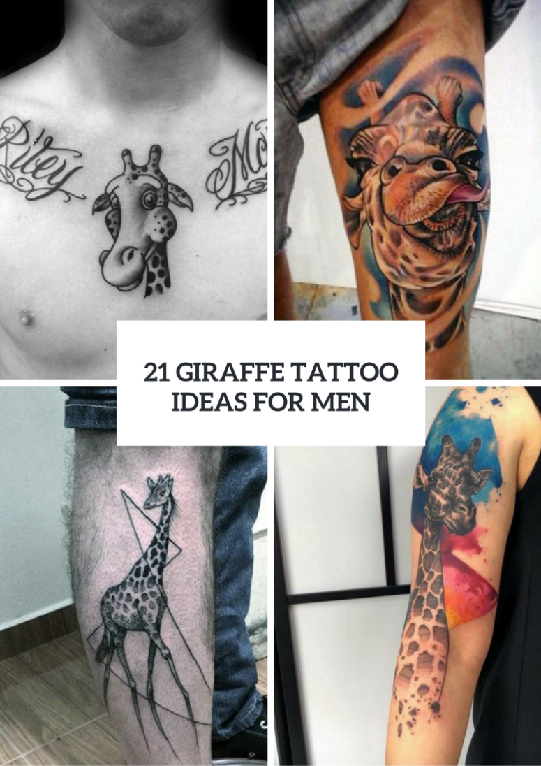 21 giraffe tattoo design ideas for men - Tattoo Design Ideas