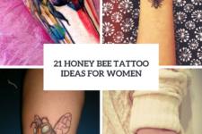 21 Honey Bee Tattoo Ideas For Women