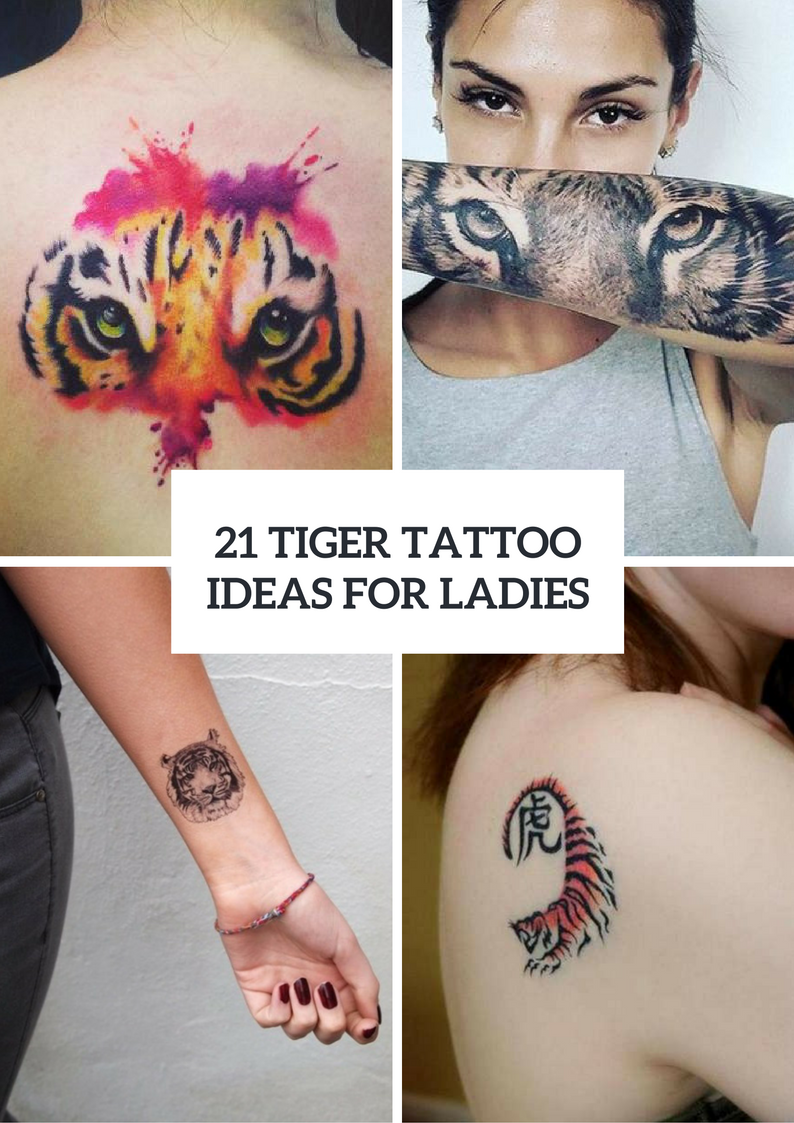 Tiger Tattoo Ideas For Ladies