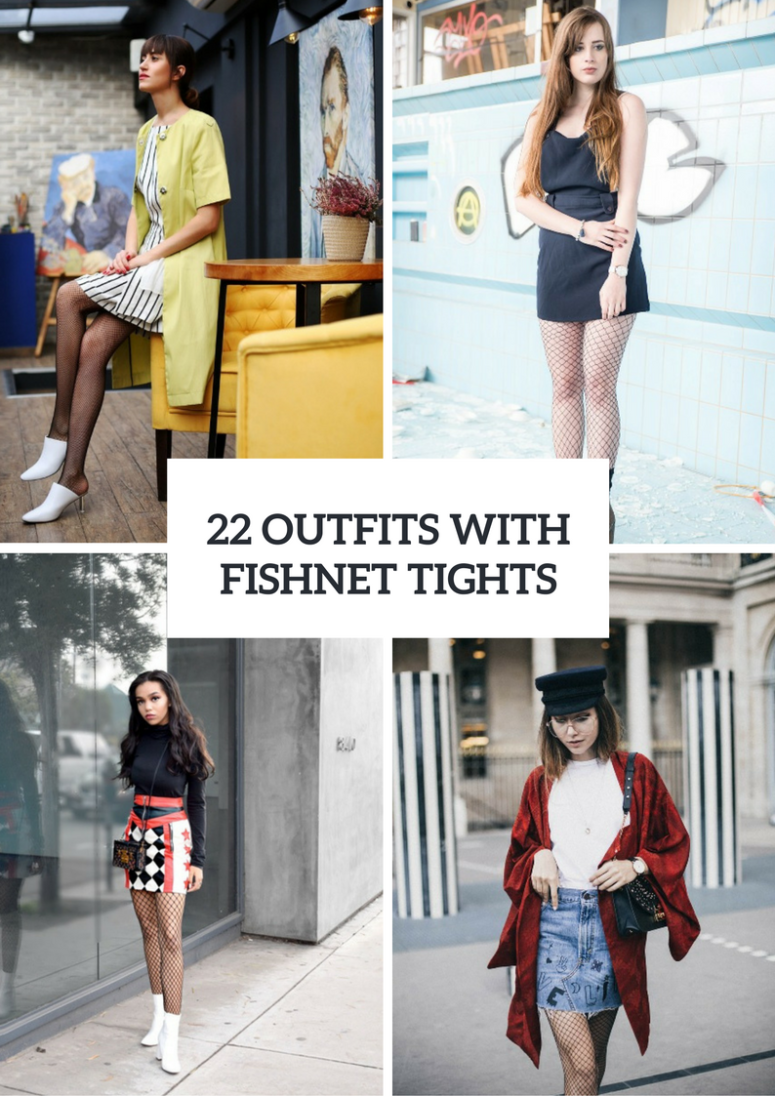 22 Awesome Outfits With Fishnet Tights For Early Fall