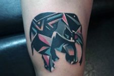 Abstract small elephant tattoo