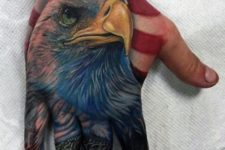 American eagle tattoo on the hand