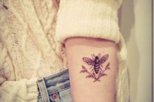 Bee tattoo design on the hand