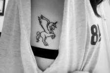 Black tattoo on the side