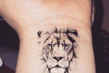 Black tattoo on the wrist