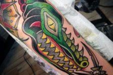 Bright colored tattoo