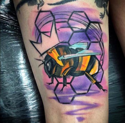 21 Honey Bee Tattoo Ideas For Women - Styleoholic | 488 x 480 jpeg 42kB