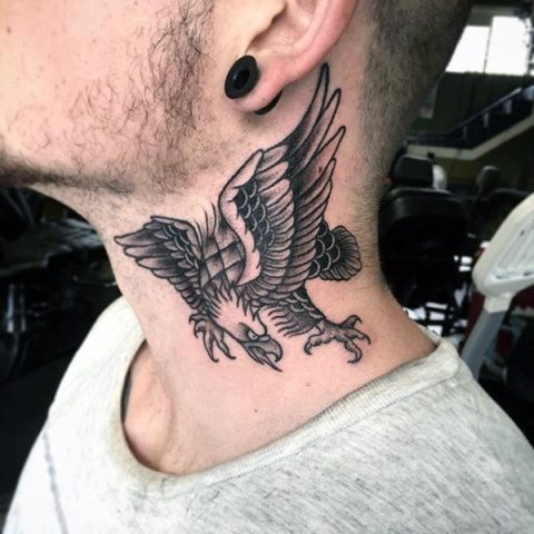 Cool tattoo on the neck