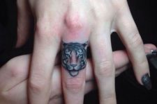 Cute tattoo on the finger