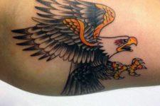 Eagle tattoo idea on the biceps