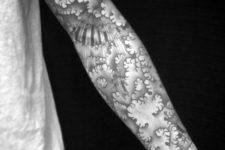 Full sleeve cloud tattoo