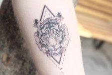 Geometric tattoo on the arm