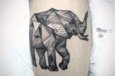 Geometric tattoo on the forearm