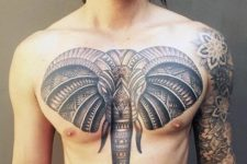 Gorgeous tattoo on the chest